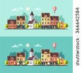 urban landscape. cityscape.... | Shutterstock .eps vector #366642584