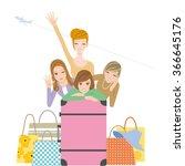 girl trip | Shutterstock .eps vector #366645176
