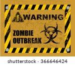 zombie outbreak  warning | Shutterstock .eps vector #366646424