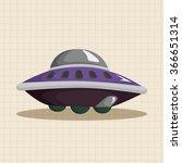 ufo theme elements | Shutterstock .eps vector #366651314