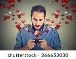 portrait young handsome shocked ... | Shutterstock . vector #366653030