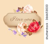 Romantic Valentine Card With...