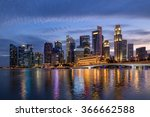 colorful singapore business...   Shutterstock . vector #366662588