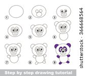 step by step drawing tutorial.... | Shutterstock .eps vector #366668564
