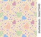 seamless vector pattern. cute... | Shutterstock .eps vector #366675440