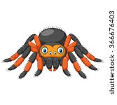 Cartoon Spider Tarantula With...