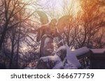 Angel Statue Illuminated By...