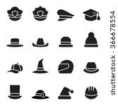 collection of black hat | Shutterstock .eps vector #366678554