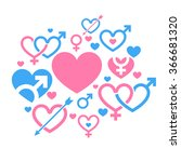 heart. valentine's day | Shutterstock .eps vector #366681320