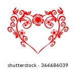 love flower heart . vector... | Shutterstock .eps vector #366686039