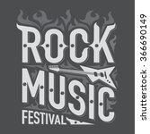 rock and roll music emblems ... | Shutterstock .eps vector #366690149