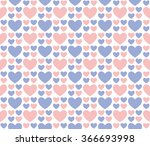 seamless romantic hearts... | Shutterstock .eps vector #366693998