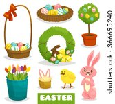 easter cartoon isolated object... | Shutterstock .eps vector #366695240