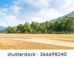 Landscape Of Meadow Forest And...