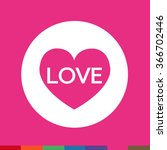 heart icon illustration sign...   Shutterstock .eps vector #366702446