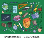 doodle vector set of learning   Shutterstock .eps vector #366705836