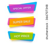ecommerce bright vector banner... | Shutterstock .eps vector #366707348