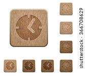 set of carved wooden clock...