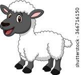 Cartoon Funny Sheep Posing...