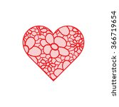 heart shape with hand drawn... | Shutterstock .eps vector #366719654