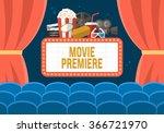 movie premiere poster design...   Shutterstock .eps vector #366721970