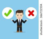 business man choice vector...   Shutterstock .eps vector #366722534