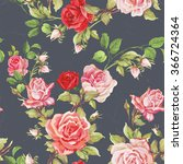 seamless floral pattern with of ... | Shutterstock .eps vector #366724364