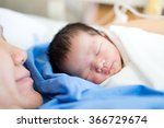 asian mother with newborn baby... | Shutterstock . vector #366729674