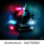 confrontation and police riders ... | Shutterstock .eps vector #366730064