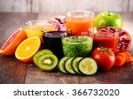 glasses of fresh organic... | Shutterstock . vector #366732020
