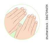 beautiful female hands and... | Shutterstock .eps vector #366734654