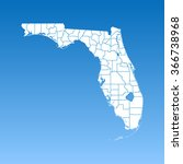 map of florida | Shutterstock .eps vector #366738968