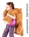 Little Girl With Big Teddie Bear