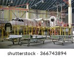Small photo of Overhaul of aircraft metal hangar.