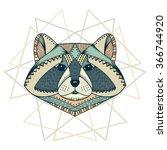 ethnic animal. tribal patterned ... | Shutterstock .eps vector #366744920