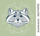 ethnic animal. tribal patterned ... | Shutterstock .eps vector #366744950