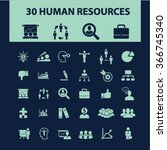 hr  career  job  icons  signs... | Shutterstock .eps vector #366745340
