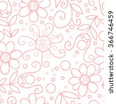 flower vector seamless pattern. ... | Shutterstock .eps vector #366746459