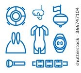 set of icons on the theme of... | Shutterstock .eps vector #366747104