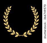 Gold Laurel Wreath. Symbol Of...