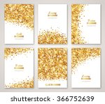 set of white and gold banners ... | Shutterstock .eps vector #366752639