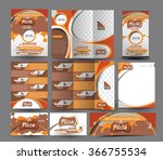pizza shop business stationery... | Shutterstock .eps vector #366755534