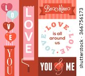vector happy valentines day and ... | Shutterstock .eps vector #366756173