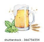 a glass  mug  pint  of beer... | Shutterstock . vector #366756554