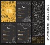 restaurant food menu vintage... | Shutterstock .eps vector #366761573