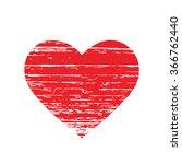 scrached red heart. vector... | Shutterstock .eps vector #366762440