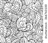 valentine seamless pattern with ... | Shutterstock .eps vector #366763100