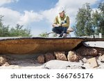 civil engineer check beach road ... | Shutterstock . vector #366765176