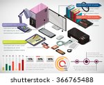 illustration of info graphic... | Shutterstock .eps vector #366765488