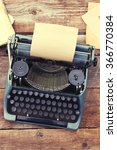 vintage black typewriter with... | Shutterstock . vector #366770384